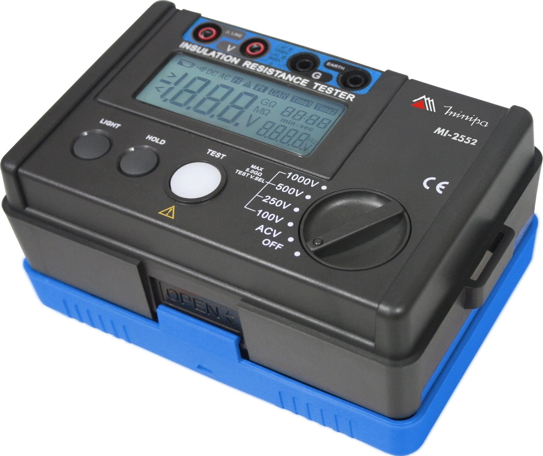 Megômetro com Resistência de Isolação até 5,5Gohm MI-2552 MINIPA