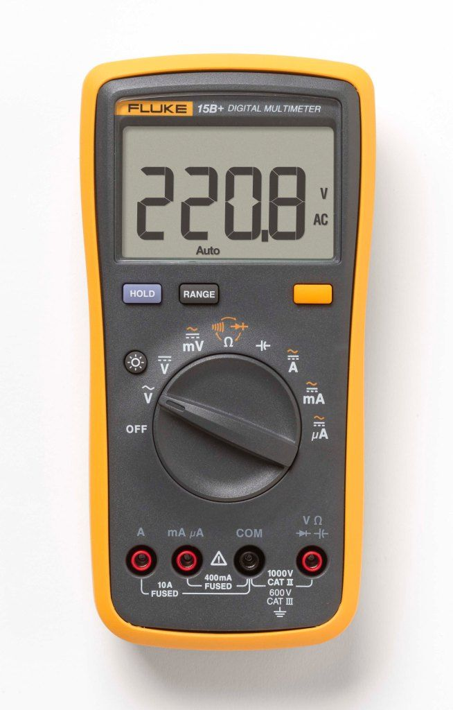 Multímetro CAT III, FLUKE 15B+
