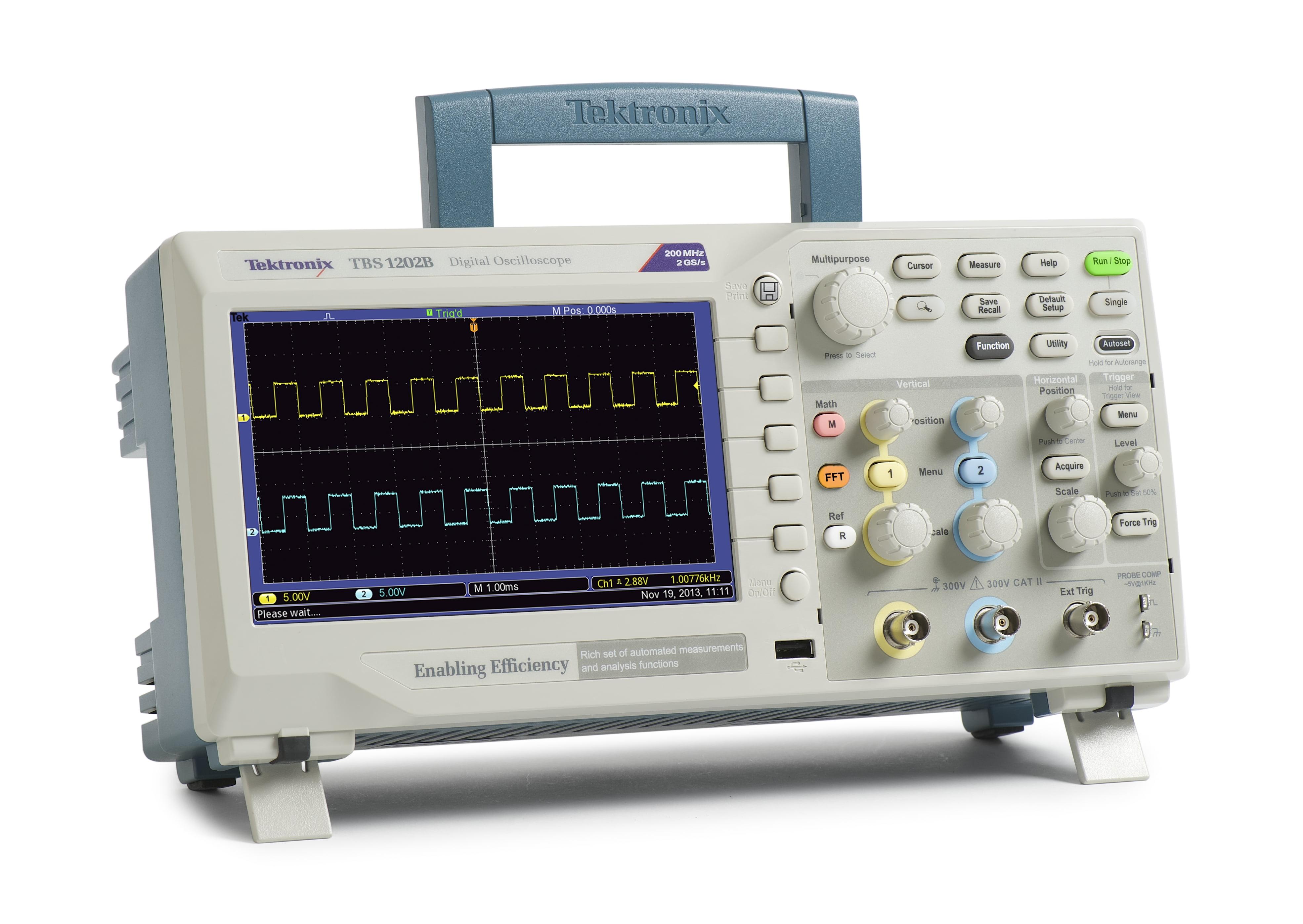 Osciloscópio Digital 100MHZ 2 Canais - 2GS/s TEKTRONIX TBS1102B