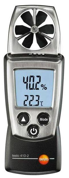 TESTO 410-2 Anemômetro de Hélice com medidor de humidade integrada