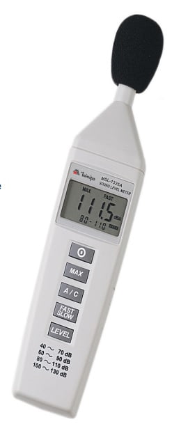 Decibelímetro Digital Portátil 40~140dB Modelo: MSL-1325A Marca: MINIPA