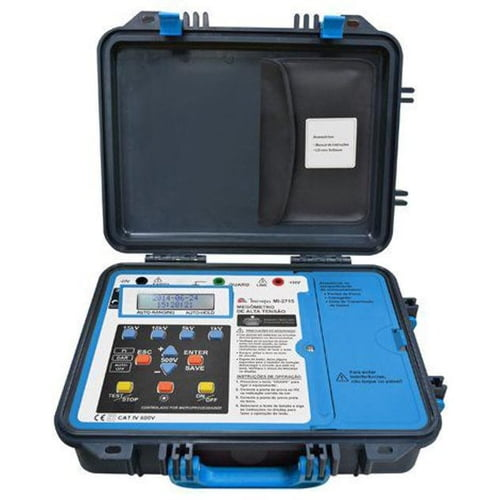 Megômetro Digital 15 KVA/600V Saída USB MI-2715 - Minipa