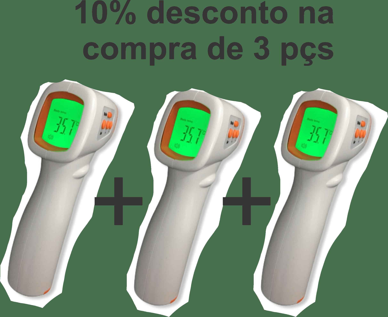 TERMÔMETRO CLÍNICO INFRAVERMELHO PARA CORPO HUMANO SEM CONTATO H-603A PRONTA ENTREGA (3 PEÇAS)