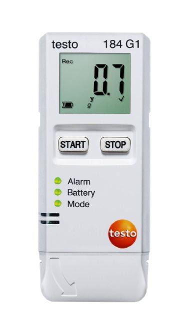 TESTO 184-G1  Datalogger de impacto, umidade e temperatura para monitoramento de transportes