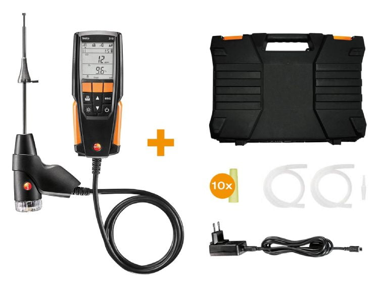 kit TESTO 310  - kit analisador de gases de combustão - 0563 3100