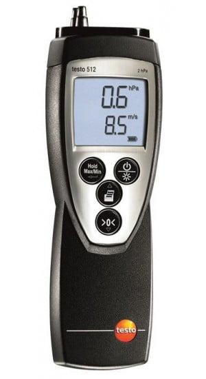 TESTO 512 - Instrumento de medição de pressão e velocidade de 0 a 200 hPa