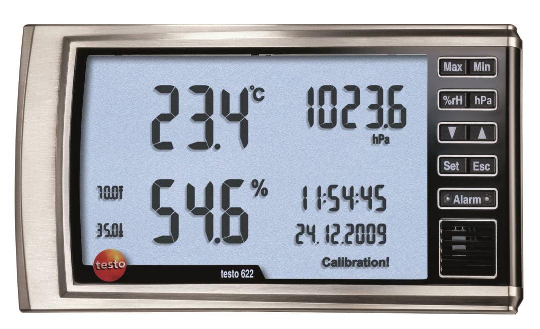 TESTO 622 - Instrumento de medição humidade/temperatura/pressão
