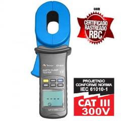 Alicate Terrômetro Digital ET-4310 MINIPA Com Certificado de Calibração Rastreado RBC