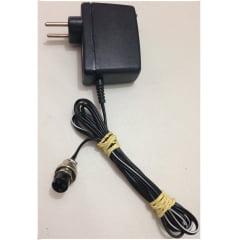 Carregador de Baterias 90 a 227 Vca para TTR 2000 e DMG INSTRUM com conector de 04 pinos