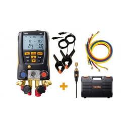 TESTO 557 Kit Manifold Manômetro Digital com 4 Mangueiras para Sistema Refrigeração